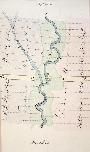 A Heves Megyei Levéltár kéziratos térképei, Fkpt, 123. Hór folyó vízrajzi térképe, 1830